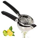 KUNBIO exprimidor de limones de acero inoxidable, exprimidor grande de limones con asas para exprimir naranjas, limones y limas