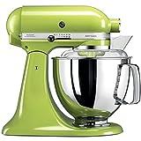 KitchenAid Artisan - Robot de cocina (4,8 L, Verde, palanca, 220 RPM, 1,454 m, AC)