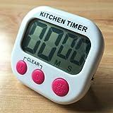 Temporizador Alarma CCI digital temporizador de cocina electrónica Copia magnética con pantalla LCD for que cocinan la Oficina de Deportes Juegos (naranja) administrador de tiempo (Color : Magenta)