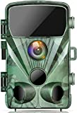 TOGUARD Cámara de Caza 20MP 1080P Impermeable Cámara de vigilància, con Vision Nocturna Gran Angular de 130° Detección de Movimiento Cámara Foto Trampa, 0.3s Velocidad de Disparo 2.4'LCD IR Leds