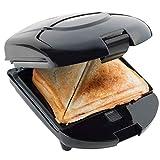 Bestron Parrilla Sandwichera 3 en 1 con Revestimiento Antiadherente, 520 W, Negro