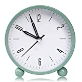 Kooshy Reloj Despertador para niños, Reloj Despertador Vintage, Esfera Grande de 4 Pulgadas, Reloj Despertador analógico de Cuarzo con Alarma Fuerte, sin tictac, silencioso, Funciona con Pilas