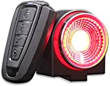 Dewanxin Luz Bicicleta Recargable USB 800 mAh,Luz Inteligente para Bicicleta,Luz Trasera de Bicicleta,Control Remoto de Alarma Ultra Brillante de 115db,IP65 Impermeable,con Alarma Antirrobo,Luces LED