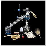 Juego de unidades de destilación Cristalería de laboratorio Ciencia industrial Destilador Purificación de rocío puro Fabricación de aceites esenciales Alcohol Filtro de agua destilada Equipo de labora