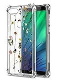 Oihxse Cristal Compatible con Samsung Galaxy M40 Funda Transparente TPU Silicona Estuche Airbag Esquinas Anti-Choque Anti Rasguños Diseño Rosa Flower Caso (Flores A6)