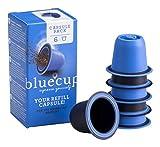 Bluecup 6 Cápsulas Recargables Compatibles con Nespresso Máquinas, Cápsulas Reutilizables Nespresso Cafeteras, Cápsulas Rellenables
