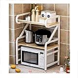 Cocina Microondas estantes encimera 2 Capa Horno Arrocera Plataforma de microondas doméstico Escritorio Doble Estante de Almacenamiento XMJ (Color : I)