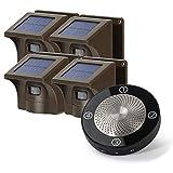 HOSMART Sistema de alarma para exteriores resistente a la intemperie [1/2 milla] con sensor de movimiento y detector (1 receptor y 4 sensores)