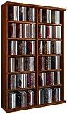 VCM Ronul-Torre para CD/DVD, para 300 CDs, sin Puerta de Cristal, Color Vetas de Nogal