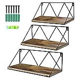 UMI. by Amazon Estantes de Metal con Montaje en la Pared para Salas de Estar, cocinas u oficinas, Juego de 3