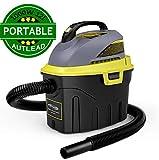 AUTLEAD Aspirador Seco-Húmedo, 1000W 12L Compacto Aspiradora Hogar con 2 boquillas, silenciador, compacta, manejable y con Ahorro de energía, para Uso en el hogar o vehículos -WDH2A