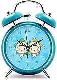 PANGPANGDEDIAN Reloj de Pared Reloj Despertador 12 Constelación Imagen de la Noche Mute Mute Double Bell Ruido Ruido Cara Hogar 11,5cm * 16.5cm Waker (Color : Gemini)