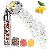 Ducha de mano Redmoo, cabezal de ducha con vitamina C/E, cabezal de ducha filtro de agua cabezal de ducha Ahorro de agua suavizado y alta presión con piedra adicional, reduce el cloro
