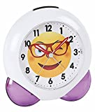 Atlanta Alarm Clock Smile Emo Love Purple White - 1918 8