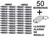 Outletdelocio. 50 bombonas co2 12gr. Umarex/Gamo para pistolas y carabinas + llavero alarma de regalo