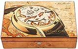 NMDD Hermoso joyero, Pintura de Piano Caja de Reloj de Madera Maciza Reloj mecánico simulación de Reloj de Cuarzo 12 Unidades Caja de Almacenamiento de colección de Collar con Cerradura
