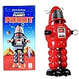 HwaStudio MS430 Estaño Rojo Planeta Robot mecánico, Robby el Robot, Vintage Reproducción acción Integral Juguete Rojo NOSTÁLGICA