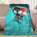 NUOMANAN Manta de camping Superhero, Miles Morales in Verse, manta de microfibra de felpa para cochecito de cuna de 150 x 200 cm