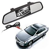 BW 2 en 1 4,3 pulgadas de color digital TFT LCD 16: 9 4.3 'pantalla del coche espejo retrovisor de seguridad Conitor para la cámara DVD PAL / NTSC Multi-idioma