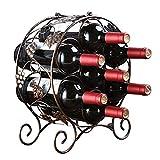 Nvshiyk Estante para vinos Independiente 7 Botellas De Vino Bastidores De Metal Dispositivo De Almacenamiento De Almacenamiento De Cocina del Restaurante-Bar O Bodega para Cocinas Comedores