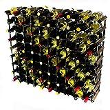 Madera Classic 90 botella de roble oscuro manchado y metal autoensamblaje estante del vino galvanizado