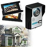 Videoportero con 2 monitores TFT y LCD de 7 pulgadas, para casa familiar, visión nocturna, soporte automático de instantáneas