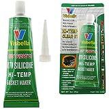 Visbella Sellador de juntas de silicona para electrodomésticos – Resistente al calor de alta temperatura de -80 °F a 500 °F (transparente)