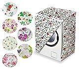 Ducomi Turbo Wash - Funda para grandes electrodomésticos de baño y cocina – Lavadora y secadora de carga frontal – Evita la limpieza del coche – 82 x 62 x 57 cm (1 unidad, Flowers)