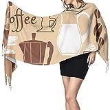 Elaine-Shop Cafetera y taza Bufanda de manta larga para mujer, Bufanda de moda con borla Chales Wraps, Sensación suave de cachemira