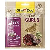 GimDog Curls – Snack de Carne deshidratado con fórmula sin Cereales y monoproteína para Perros – 6 Paquetes (6 x 55 g)