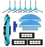 APLUSTECH Kit 13 Accesorios para Cecotec Conga Serie 3090 con Cepillo Central, Cepillos Laterales, Filtros HEPA y Mopas para Aspiradora Robot Conga 3090.