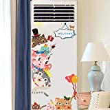 Pegatinas de aire acondicionado de dibujos animados pintura decorativa pegatinas de refrigerador creativo congelador pegatinas de pared nórdicas autoadhesivas impermeables-08. Cat door sticker_Big