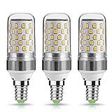 3 x E14LED maíz luz bombillas, 9vatios, techgomade 80W bombillas incandescentes equivalente, Blanco cálido, 2700K, 1000lm, candelabro E14SES bombillas, intensidad no regulable