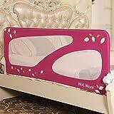 Hot Mom - barandillas de la cama 150 cm para bebés, portátil y estable, barrera de seguridad,color rosa, 2020 new