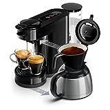 Philips HD6592/61 Senseo Switch 2 en 1 - Cafetera de monodosis (cafetera y filtro), color negro