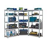 Racking Solutions - Kit de esquina de garaje galvanizado, 1 unidad de esquina 1800 mm x 900 mm x 400 mm y 2 estantes 1800 mm H x 900 mm An x 400 mm D, gran capacidad de almacenamiento de 2625 kg