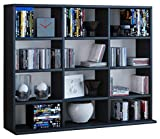 VCM Megosa Mini sammelregal estantería Biblioteca Almacenamiento, Madera, Negro, 69,2x 102,1X 23cm