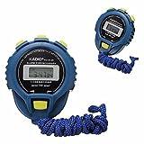 Dorical LCD Cronógrafo Temporizador digital Cronómetro Contador deportivo Odómetro Reloj Alarma Cronómetro azul Contador manual