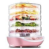 Secador de frutas, temperatura eléctrica ajustable de 35 a 70 ° C Secador de frutas para frutas frescas y deshidratadas Carne 5 bandejas Protección contra sobrecalentamiento Deshidratador de frutas pa