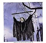 Colgando Esqueleto Bruja De Halloween Decoración De Halloween De Detección Luminiscente Esqueletos