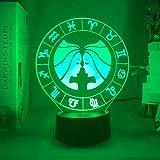 KangYD Luz de noche 3D Gemini, lámpara de ilusión óptica LED, lámpara colorida, E - Base para despertador (7 colores), Lámpara de escritorio, Decoración del bar