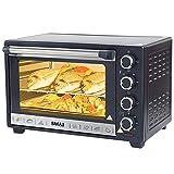 Bakaji 2830665 - Horno eléctrico ventilado con luz interior, 38 l, potencia 1600 W
