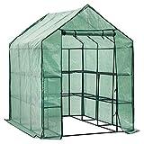 D4P Display4top Invernadero de jardín vivero casero Plantas Cultivos con 8 estantes,143 x 216 x 195 cm