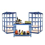 Kit de iniciación para pequeños negocios o garaje, 4 x bahías para estanterías de 600 mm D