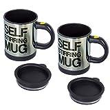 RETON 2 PCS Lazy Self Stirring Mug Taza de café para mezclar Taza de café para mezclar automática