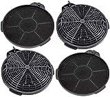 SPARES2GO Filtro de ventilación de carbón para campana extractora Cooke & Lewis (paquete de 4)