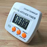 Temporizador CCI temporizador de cocina electrónica digital fuerte alarma Soporte magnético con el sostenedor for que cocinan la Oficina de Deportes Juegos (Negro) administrador de tiempo