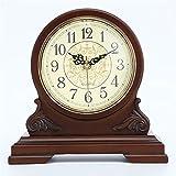Reloj de alarma Reloj de chimenea Reloj de chimenea decorativo silencioso Reloj de manto Reloj de chimenea de madera con pilas for sala de estar Decoración Oficina Hogar Decoración vintage para la dec