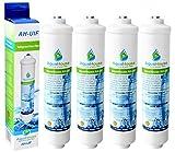4x AquaHouse UIFS Compatible filtro de agua del refrigerador para Samsung DA29-10105J HAFEX/EXP WSF-100 Aqua-Pure Plus (sólo filtro externo)
