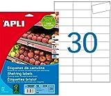 APLI 10387 - Etiquetas blancas para estantería 67,0 x 25,4 mm 10 hojas